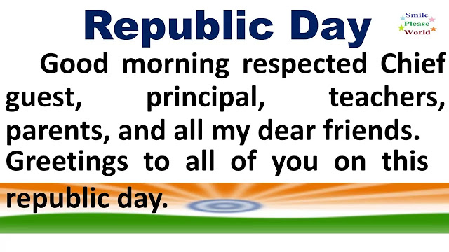 Republic day speech in English 2021