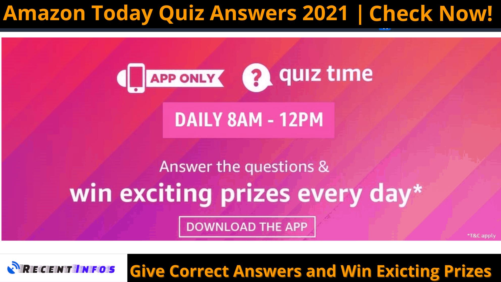 Amazon Today Quiz Answers 2021 (1)