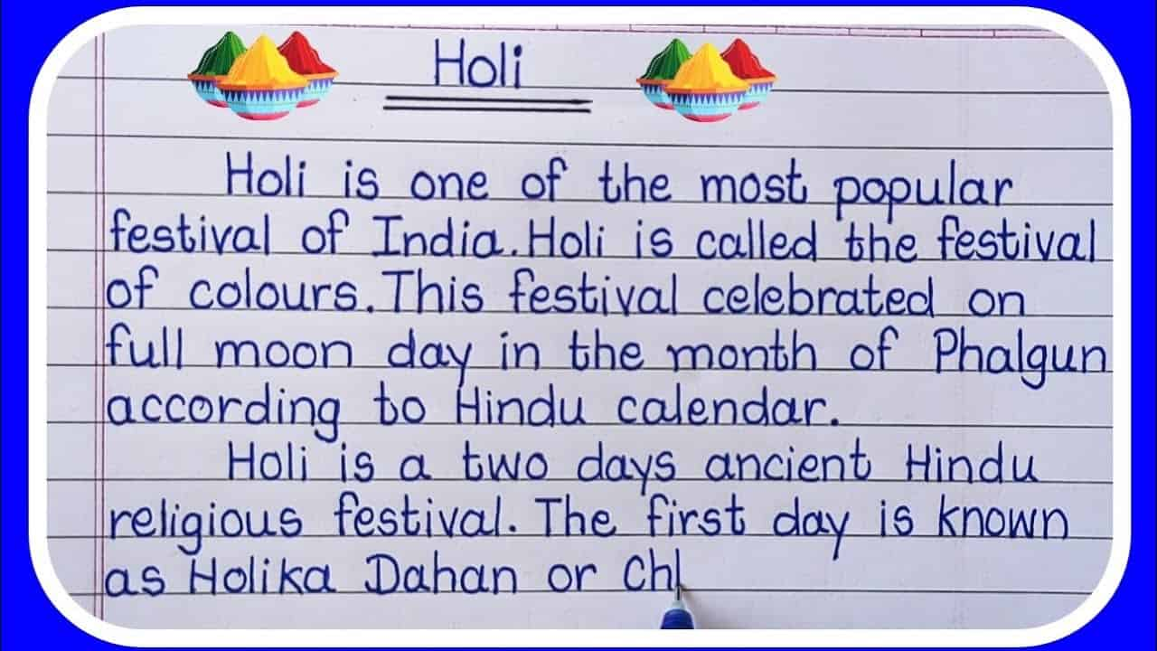 Happy Holi 2021 Top 2 Best Speech in English, Short and Long