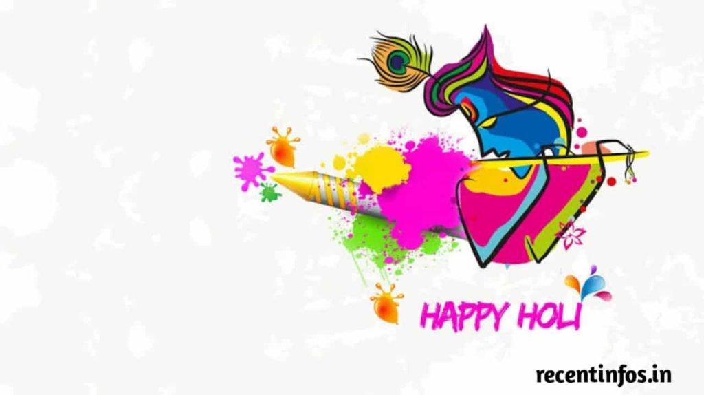 Radha Krishna Happy Holi Images in hd