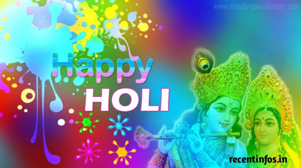Radha Krishna Happy Holi Images in hd