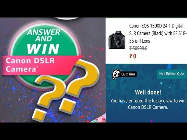 amazon holi edition Dslr Quiz answers