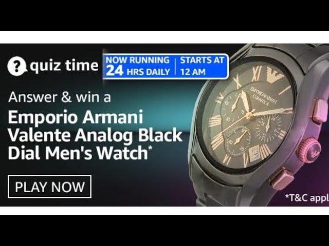 Armani Watch Quiz Answers
