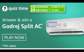 Amazon-Quiz-10-April-2021-Answers-Win-Godrej-Split-AC
