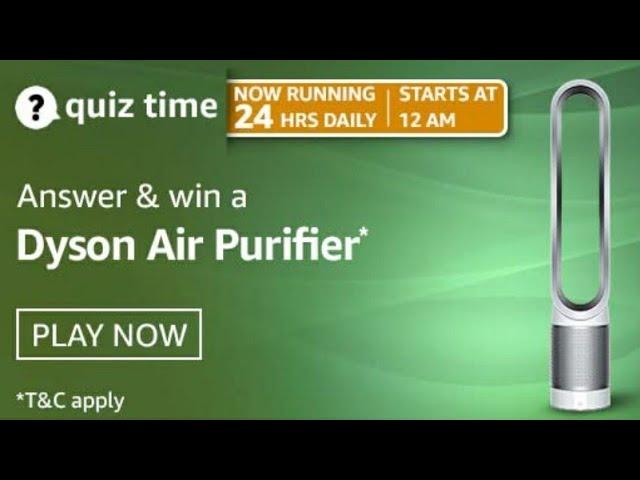 Amazon Quiz 13 April, 2021 Answers