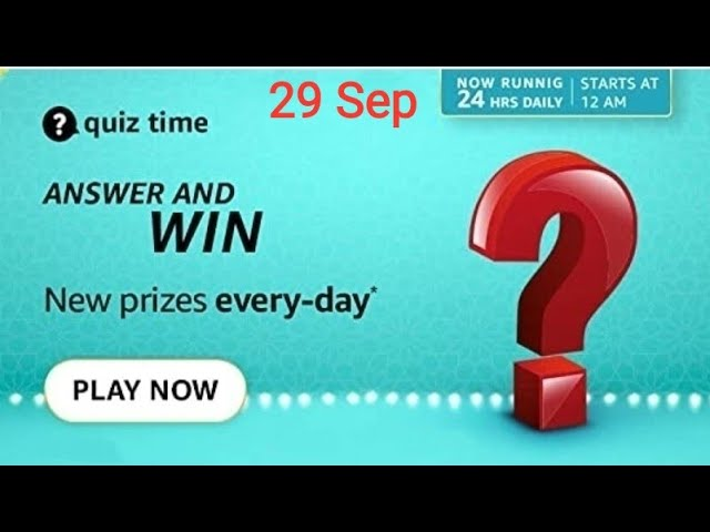 Amazon Quiz answers 29 september 2021